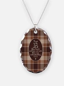 Proverbs 3:5 Bible Verse Necklace