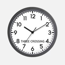 Three Crossing Newsroom Wall Clock