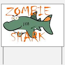 Zombie Shark Yard Sign