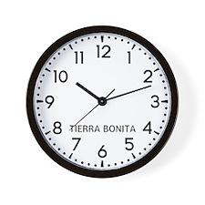 Tierra Bonita Newsroom Wall Clock