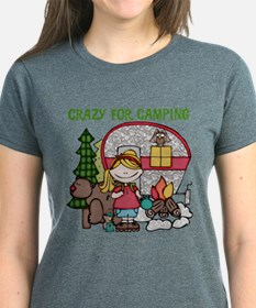 Blond Crazy For Camping Tee