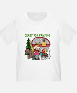 Blond Crazy For Camping T