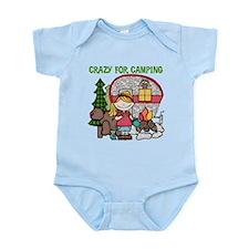 Blond Crazy For Camping Infant Bodysuit