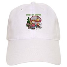 Blond Crazy For Camping Baseball Cap
