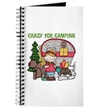 Blond Crazy For Camping Journal