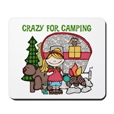 Blond Crazy For Camping Mousepad