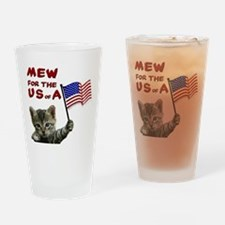 mew-for-the-usa.jpg Drinking Glass