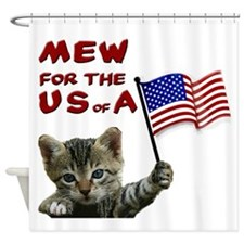 mew-for-the-usa.jpg Shower Curtain