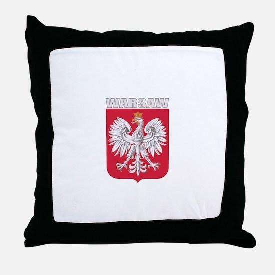 Warsaw, Poland Throw Pillow