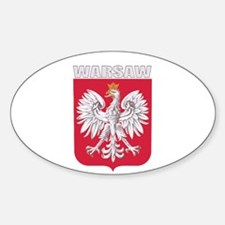 Warsaw, Poland Oval Decal