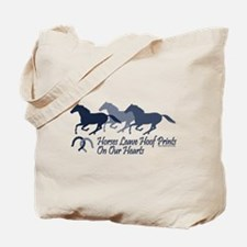 Hoof Prints On Our Hearts Tote Bag