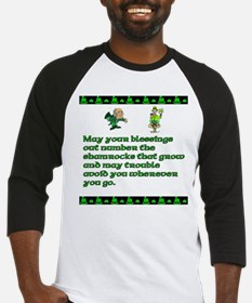 Irish Saying, Blessings and T Baseball Jersey