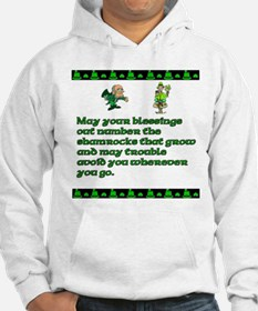 Irish Saying, Blessings and T Hoodie