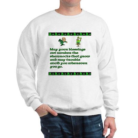 Irish Saying, Blessings and T Sweatshirt