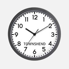 Townshend Newsroom Wall Clock