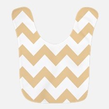 Tan Chevron Stripes Bib