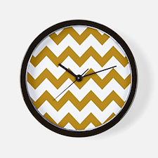 Golden Rod Chevron Wall Clock