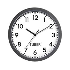 Tuber Newsroom Wall Clock
