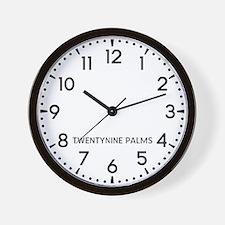 Twentynine Palms Newsroom Wall Clock