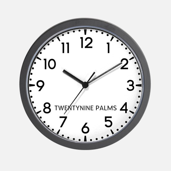 Twentynine Palms Newsroom Wall Clock