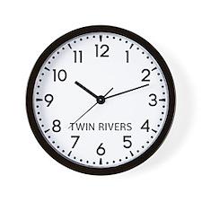 Twin Rivers Newsroom Wall Clock