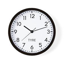 Tyre Newsroom Wall Clock