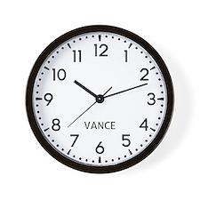 Vance Newsroom Wall Clock