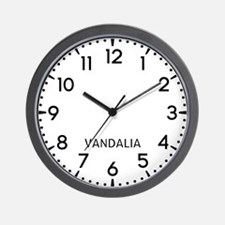 Vandalia Newsroom Wall Clock