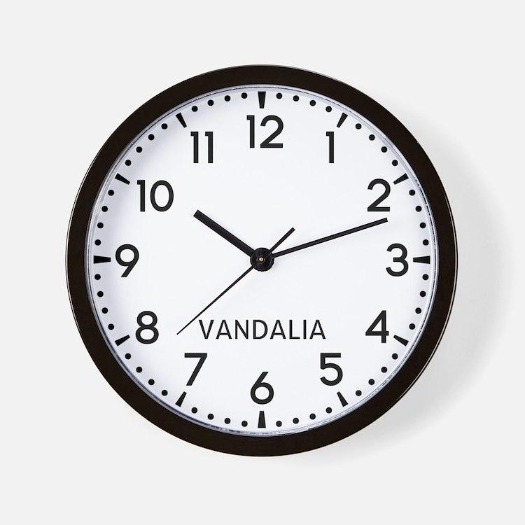 Vandalia Newsroom Wall Clock