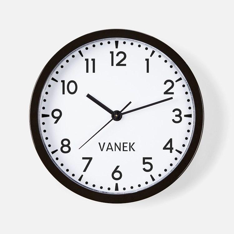 Vanek Newsroom Wall Clock