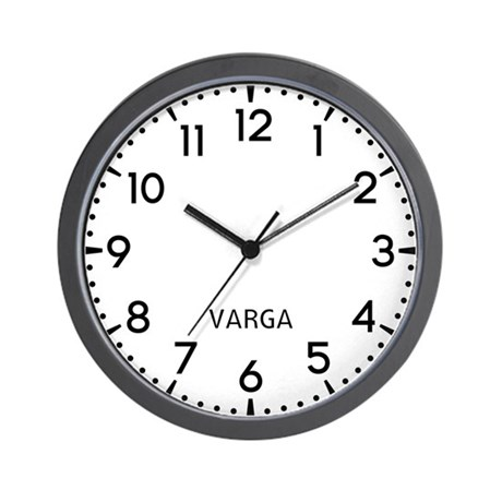 Varga Newsroom Wall Clock