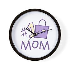 #1 Mom Wall Clock