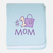 #1 Mom baby blanket