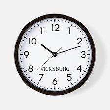 Vicksburg Newsroom Wall Clock