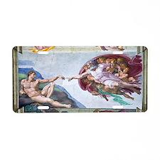 Michelangelo's S .Chapel Aluminum License Plate