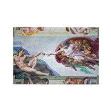 Michelangelo's S .Chapel Rectangle Magnet