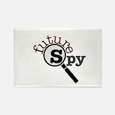 Future Spy Rectangle Magnet