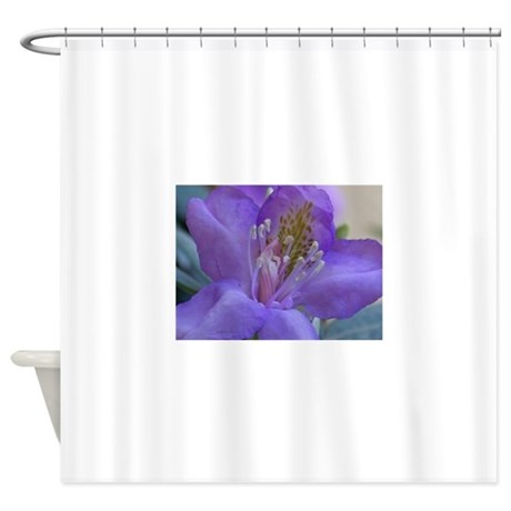 purple rhododendron flower shower curtain by giftsfromwashington. Black Bedroom Furniture Sets. Home Design Ideas