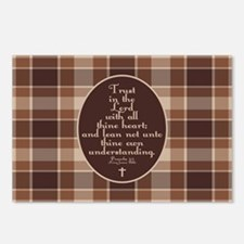 Proverbs 3:5 Bible Verse Postcards (Package of 8)