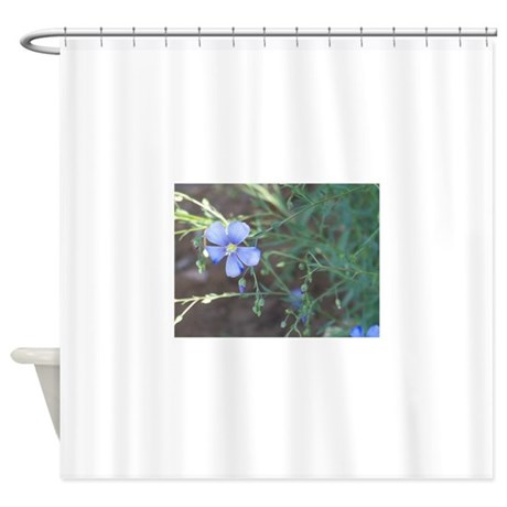 Wild Blue Flower Shower Curtain By Giftsfromwashington