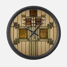 Prairie Glass Large Wall Clock