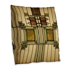 Prairie Glass Burlap Throw Pillow