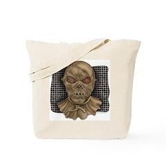 Evil Leather Mask Tote Bag