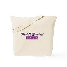 World's Greatest Yaya (2) Tote Bag