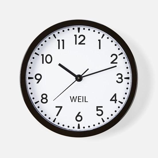 Weil Newsroom Wall Clock