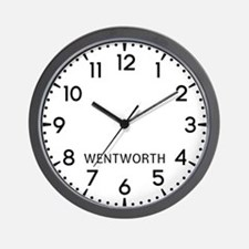 Wentworth Newsroom Wall Clock