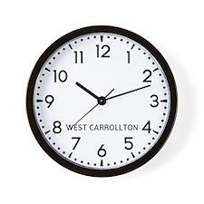 West Carrollton Newsroom Wall Clock