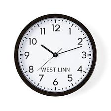 West Linn Newsroom Wall Clock