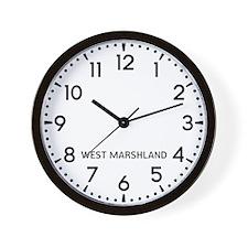 West Marshland Newsroom Wall Clock