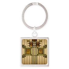 Prairie Glass Square Keychain